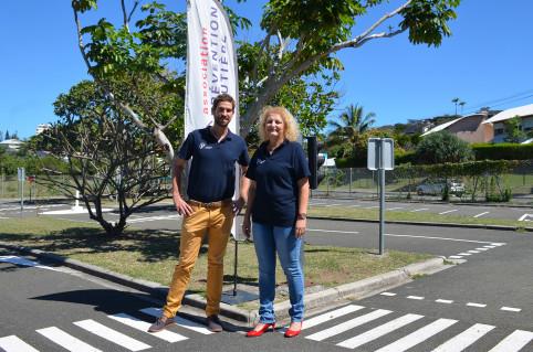 Mireille Münkel, présidente de l'association Prévention routière et Damien Desoutter, chargé de mission.