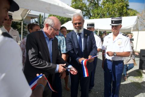 Inauguration de la brigade de recherches par le haut-commissaire et le président de la province Nord.