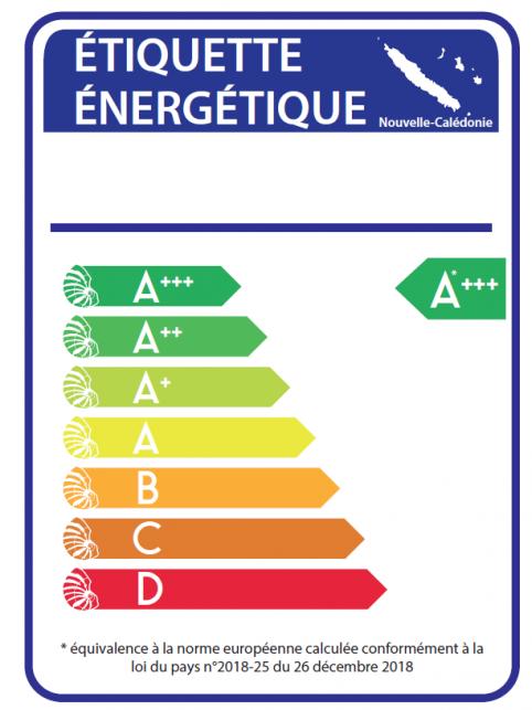L'étiquette énergétique calédonienne s'inspire de celle de l'UE qui est bien connue des consommateurs (A+, A, B, C…).
