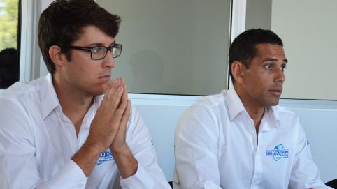Clément Chevry, directeur d'exploitation, et Bertrand Courte, gérant, à droite.