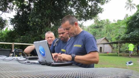 Le point de situation quotidien, adressé aux autorités locales et au président du gouvernement de la Nouvelle-Calédonie par le capitaine Baumann et ses hommes.