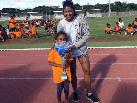 Mélissa a participé à l'organisation des Jeux intertribus de Koné.