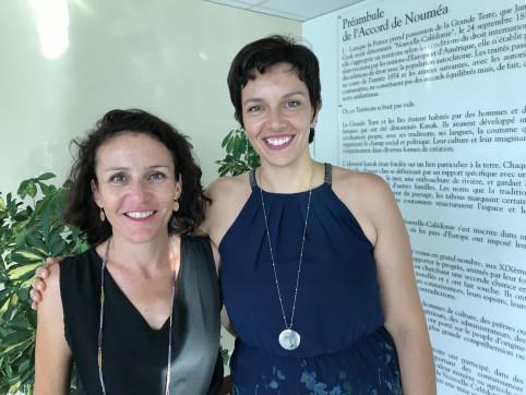 Véronique Nicolas (à droite) et son homologue en province Nord, Christelle Thirion-Lacroix, coordinatrice du groupement d'employeurs sport et loisirs Nord.