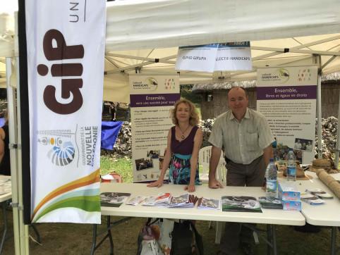 Catherine Peyrache, secrétaire générale du Collectif Handicaps, et Thierry Dombrowsky, directeur du GIP HDBV.