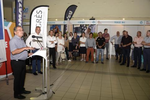 Jean-Louis d'Anglebermes a prononcé un discours lors de l'inauguration du Salon des métiers (DR).