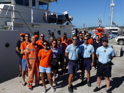 Personnels de la DAM, de la province Sud, gendarmes, sauveteurs en mer… Environ 60 personnes ont participé à l'opération.