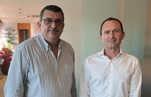 Philippe Germain et Philippe Renault, le directeur de l'AFD en Nouvelle-Calédonie qui a succédé en septembre dernier à Karine Martin de Frémont.