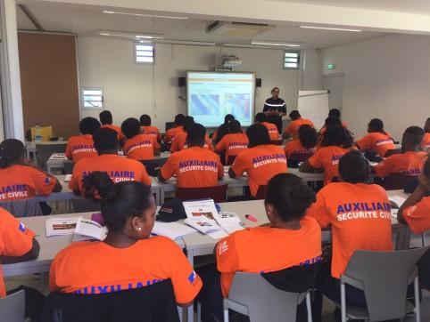 Quatre modules de formation ont été dispensés : prévention et secours civiques de niveau 1 (PSC1), prévention des risques majeurs, guetteur de feux de forêts et opérateur feux de forêts.