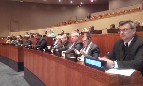 Le président du gouvernement sur les bancs des Nations Unies.