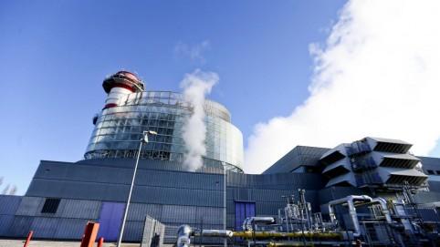 La centrale au gaz sur les rails