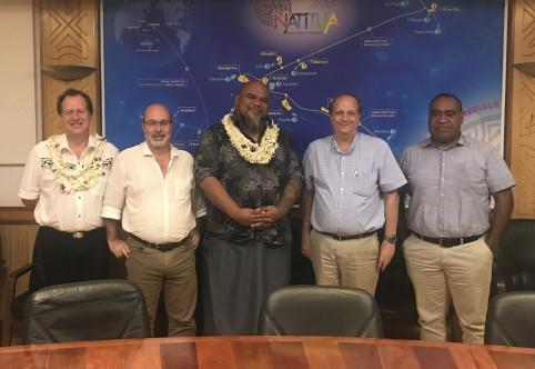 Les échanges avec l'OPT polynésien ont porté entre autres sur les projets de câbles sous-marin et d'interconnexion des îles du territoire.
