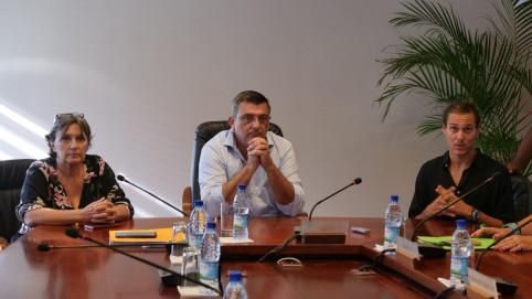 Philippe Germain en compagnie d'Isabelle de Haas (Pacifique et Compagnie) et Rémy Vachet (Le Chapitô).