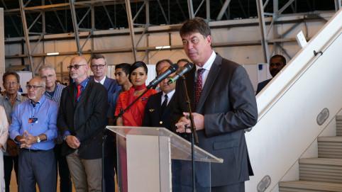 « Aircalin témoigne par cet investissement de sa capacité à se transformer », a déclaré Thierry Santa.