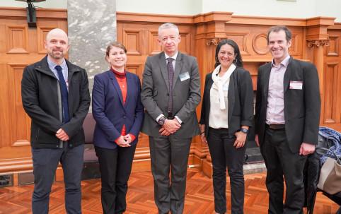 Alain Marc était accompagné de Cécilia Madeleine, déléguée de la Nouvelle-Calédonie en Nouvelle-Zélande et d'Éloïse Nicolas, directrice de la DRHFPNC.