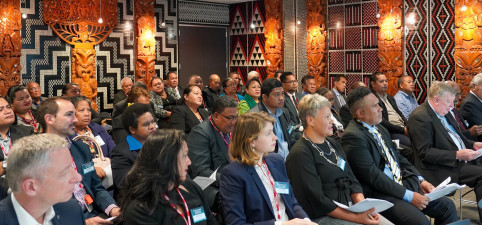 Cérémonie de bienvenue en maori au ministère des Affaires étrangères et du commerce.
