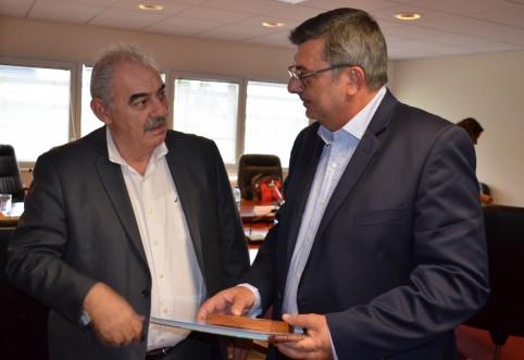 Avec le chef de la délégation onusienne, le Cubain Humberto Rivero Rosario.
