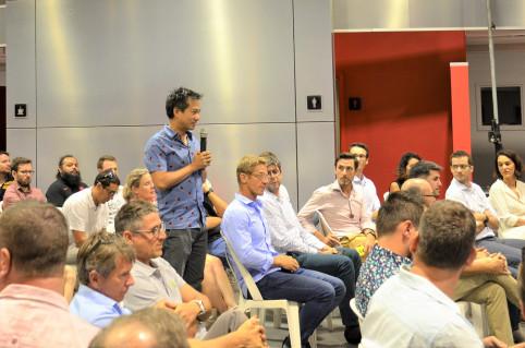 Ils étaient nombreux, jeudi 29 octobre, représentants d'entreprises et de start-up à interagir avec les membres du gouvernement.