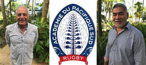 Alain Paco et Willy Taofifenua, responsable sportif et président de la future Académie du Pacifique Sud.