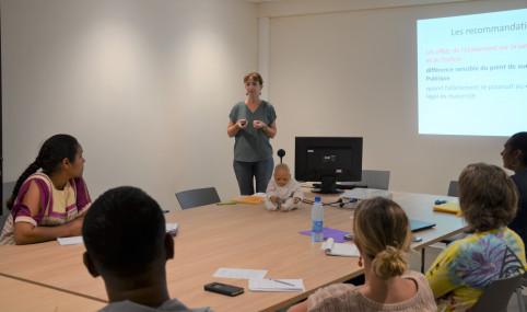 Dix représentants de grandes entreprises locales ont participé à l'atelier sur le soutien à la salariée allaitante.