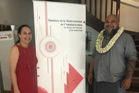 Rencontre avec la ministre polynésienne de la modernisation de l'administration.