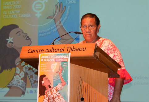 Valentine Eurisouké a aussi évoqué le «projet de loi du pays pour l'égalité professionnelle» qui est en cours.