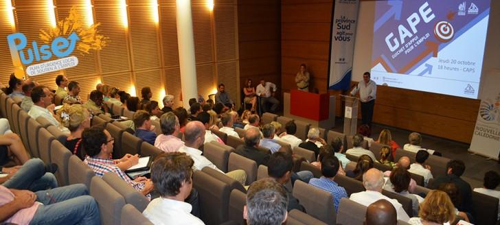Philippe Germain et Philippe Michel ont présenté les mesures du Pulse aux chefs d'entreprises de la province Sud.