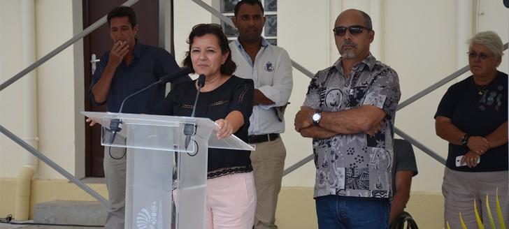Les nouveaux bâtiments de la DITTT et de la DIMENC ont été inaugurés par Cynthia Ligeard et Gilbert Tyuienon.