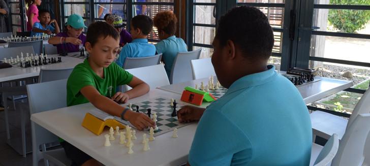 Les enfants ont disputé leurs dernières parties le 16 novembre juste avant la remise des prix.