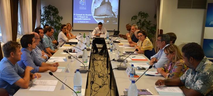 Philippe Germain a présidé le premier conseil du soutien à l'export dont le secrétariat est assuré par le service de la Coopération régionale et des relations extérieures (SCRRE).