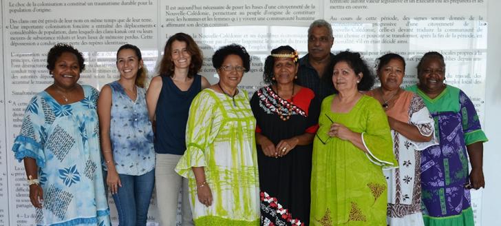 Une partie du comité de pilotage, dont les représentantes de la province des Îles, qui a organisé la 14e édition de la Journée internationale de la femme en Nouvelle-Calédonie.
