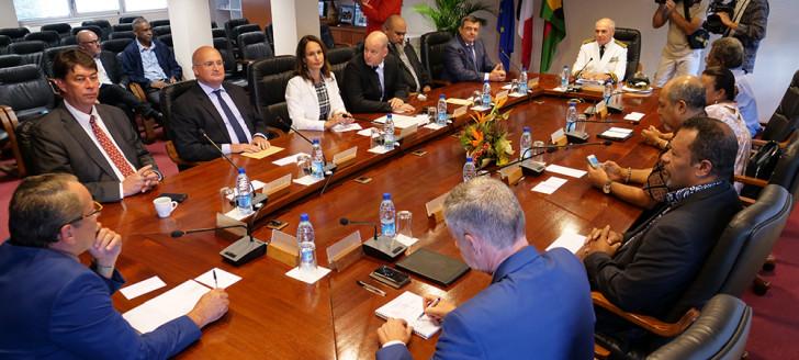 Les onze membres du 16e gouvernement de la Nouvelle-Calédonie.