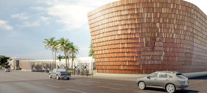 Une vue du futur MUZ, le musée de Nouvelle-Calédonie, à l'horizon 2021. (© Visuels Gaëlle Henry Architecte et Why Architecture).