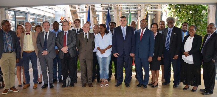 La commission mixte de coopération s'est réunie au centre culturel Tjibaou.