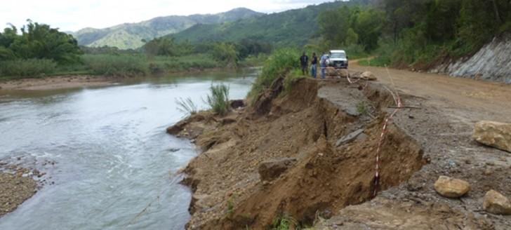 Le Fonds Nickel participera au confortement de la berge de la rivière Thio.