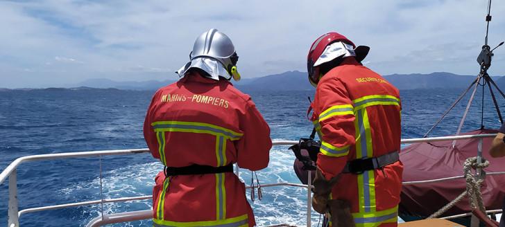 Mise en situation pour les partenaires du secours lors de l'exercice annuel ORSEC maritime. Photos ©FANC