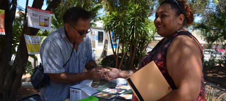 Installée dans les jardins de la DAPM, l'association des diabétiques proposait aux agents, comme aux personnes de passage, de se faire dépister gratuitement.