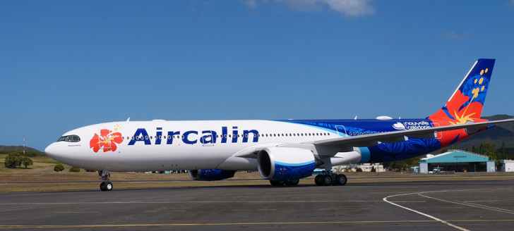 En provenance du Japon, le nouvel appareil d'Aircalin a atterri sur le tarmac de la Tontouta aux alentours de midi le mardi 6 août.