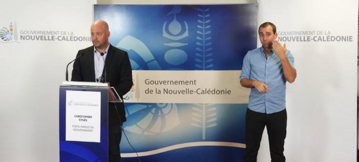 Christopher Gygès, porte-parole du gouvernement, a présenté le plan de sauvegarde de l'économie calédonienne.