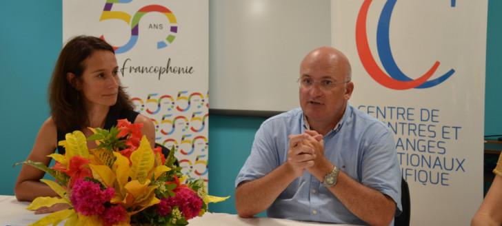 Yoann Lecourieux et Isabelle Champmoreau ont animé un point presse au Creipac pour présenter la Semaine de la langue française et de la francophonie.
