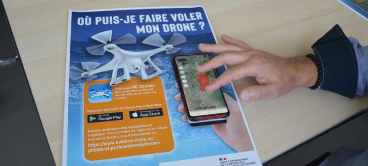 L'application NC Drones est téléchargeable gratuitement sur Google Play et Apple store.