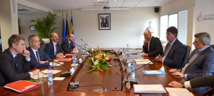 Denis Robin, secrétaire général de la mer, s'est entretenu plus d'une heure avec Thierry Santa, Christopher Gygès et Philippe Germain.