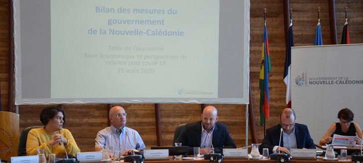 Christopher Gygès a ouvert la journée « bilan économique et perspectives de relance post Covid-19 » aux côtés de Yoann Lecourieux, en charge du budget.