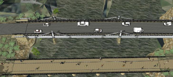 Le nouveau pont de Dumbéa sera réalisé à proximité de l'ancien ouvrage d'art.