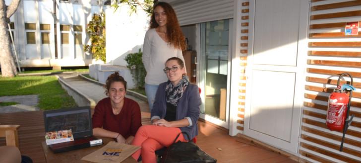 Éliza Guyaux, Laurianne Basileu-Orlando et Morgane Hiegel, les créatrices de la start-up FeedMe.