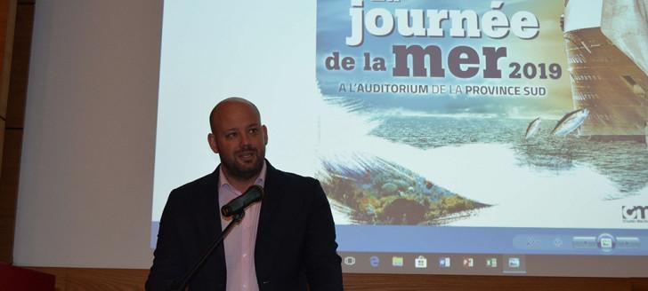 Christopher Gygès a participé à la 3e Journée de la mer, au centre administratif de la province Sud.