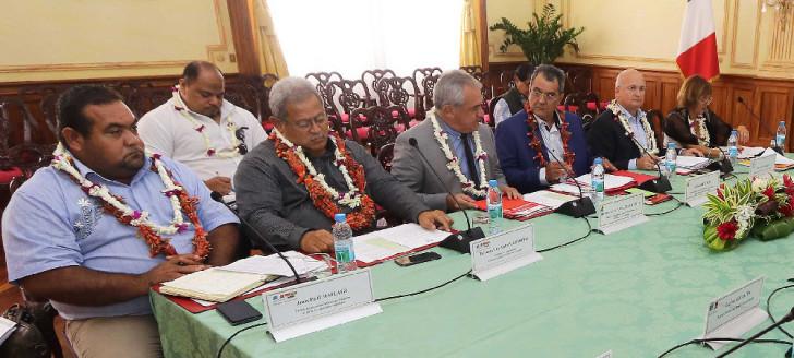 Les représentants de Wallis-et-Futuna, de la Polynésie française et de la Nouvelle-Calédonie au comité directeur du Fonds Pacifique.