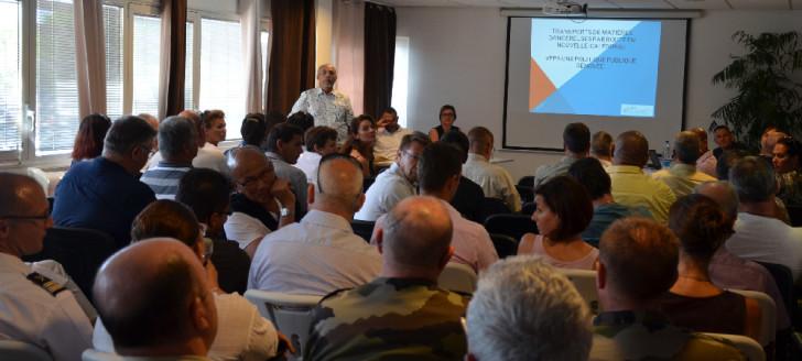 La réunion de lancement de la réforme du transport routier de matières dangereuses a fait salle comble.