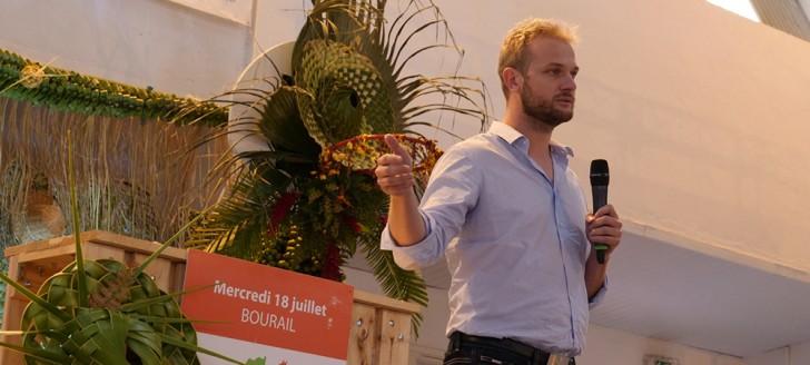 Nicolas Metzdorf lors de l'ouverture du point d'étape de la politique publique agricole provinciale 2025.