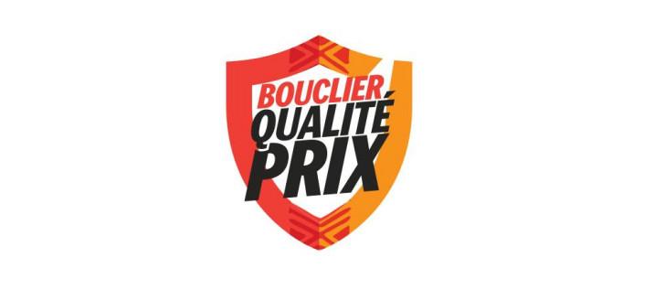 Les produits concernés par le bouclier qualité-prix sont identifiés par ce logo.