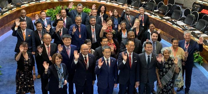 L'an dernier, la session du comité régional de l'OMS Pacifique occidental s'était tenue à Manille, en présence de la membre du gouvernement en charge de la santé, Valentine Eurisouké. (©OMS)